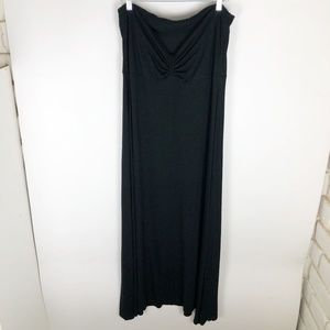 BCBG Womens XL Black Dress Maxi Strapless Ruched